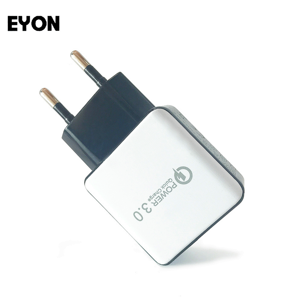 EYON Quick Charge 3.0 Charger QC3.0 Fast Charge Adaptive Wall Adapter For SAMSUNG Note 8 S8 Plus HUAWEI P9 Zenfone 3 HTC 10 A9