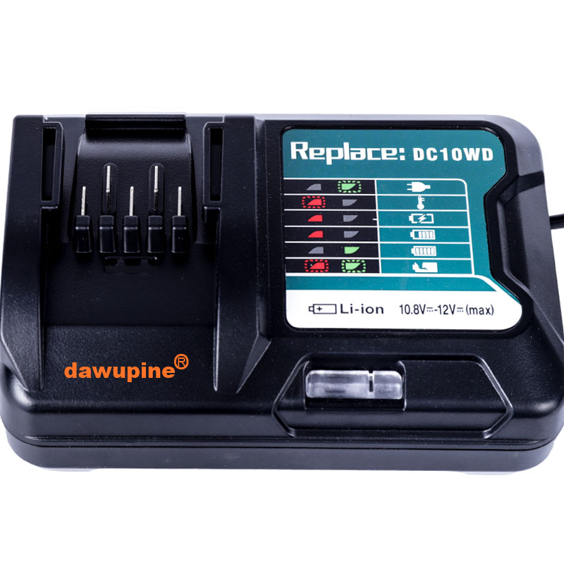 dawupine Li-ion <font><b>Battery</b></font> <font><b>Charger</b></font> For <font><b>Makita</b></font> 10.8V <font><b>12V</b></font> BL1016 BL1021B BL1041B Lithium <font><b>Battery</b></font> <font><b>Charger</b></font> DC10sb DC10wd image