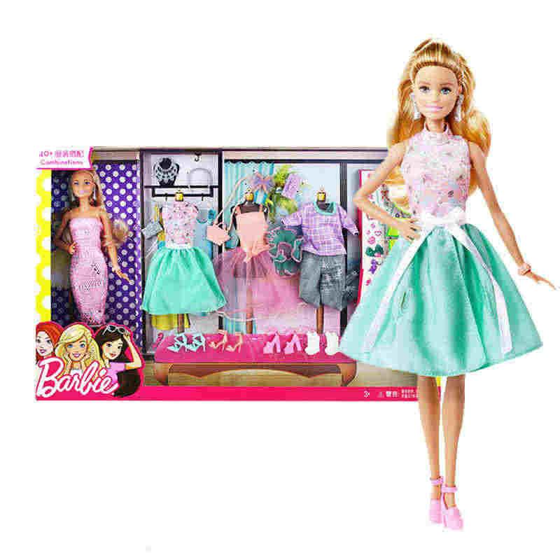 Original Barbie Doll Clothes Toys Princess Designer Fashion Girll Creative Imagine Clothes Playset Bonecas Toys For Children Aliexpress