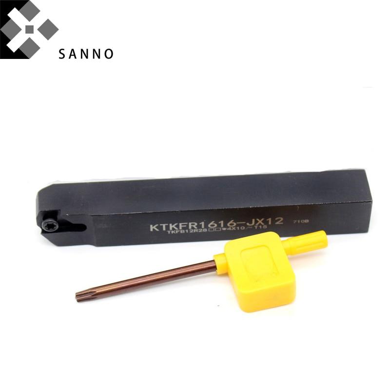 Высокое качество cnc инструменты KTKFR1010/1212/1616JX 12 внешний режущий брусок плоский автоматический держатель инструмента для канавок KTKFR/L