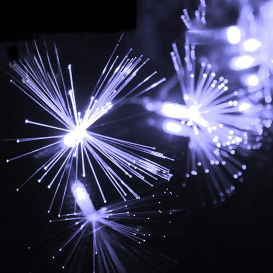 New Design 220V Christmas LED String 10M 100 Leds Dandelion Optic Fiber Fairy String Light For