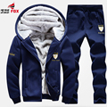 New mens hoodie Winter Men's Thermal Suit Thickening fleece tracksuits Velvet Hoodies+pants brand Clothing Sets Sportswear