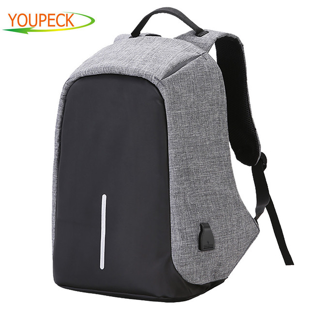 Brand Anti-theft Laptop Bag with USB Charge port 17.3 15 15.6 inch Laptop Backpack Notebook Computer Bag for Business Men Women