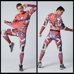 Bodybuilding 3d tshirt iron man compression tights men quick dry long sleeve t shirt fitness men.jpg 250x250