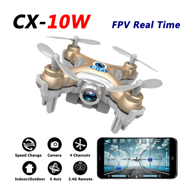 Cheerson CX 10W Mini Drone With Camera FPV Upgraded 10 Quadcopter Quadrocopter