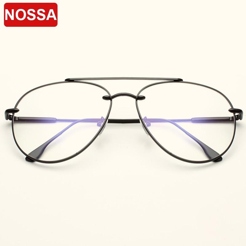 NOSSA Halbrahmen Metall Gläser Frauen & männer Acetat Brillen ...
