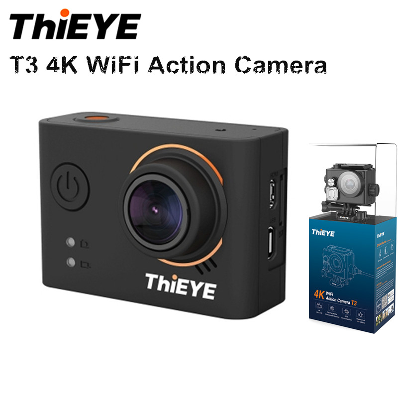 ThiEYE T3 Novatek 96660 Action Camera WiFi HD 4K 24fps 12MP Sports Camera 2'' TFT LCD Screen 40m Waterproof 1080P Sport Camera thieye t5e wifi 4k action camera black