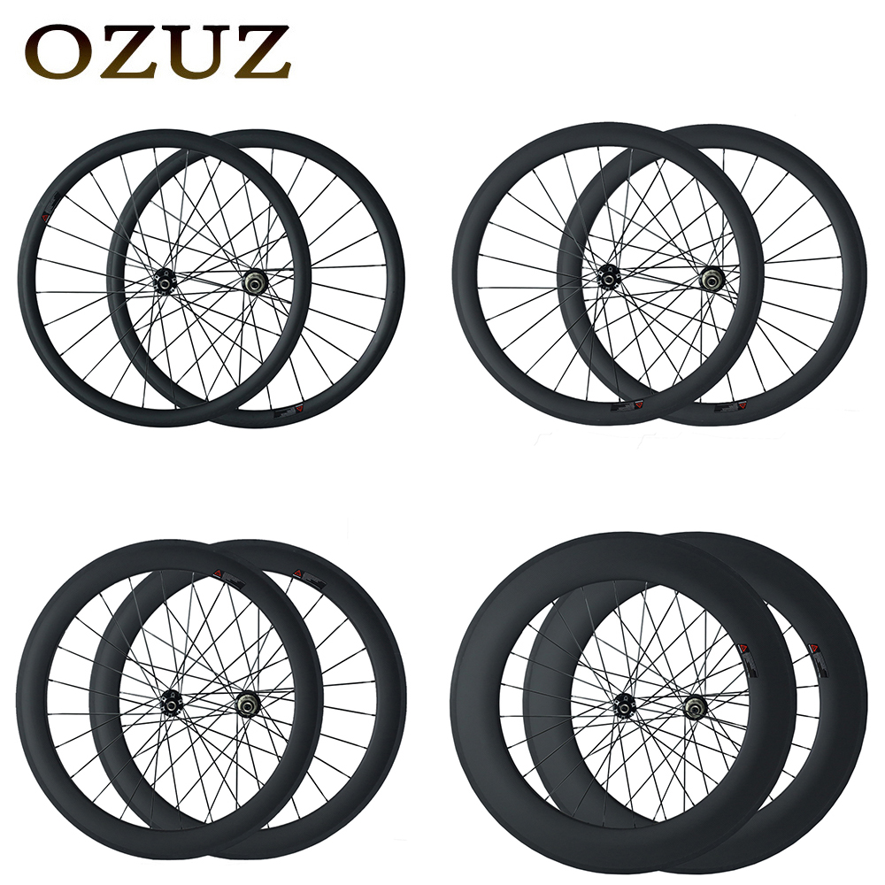 Free Custom disc brake 24mm 38mm 50mm 88mm clincher tubular 700c cycling carbon wheels 3k matte or glossy mac aero 494 cnspoke цена