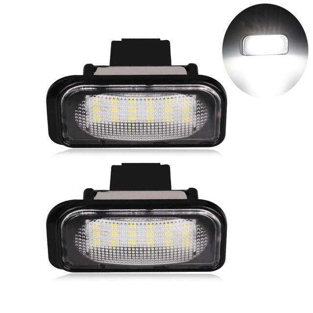 2 Pcs Ada Kesalahan Untuk Benz W203 Mobil Led License Plate Cahaya 6000 k 12 V Untuk Mercedes Benz Canbus Led Nomor License Plate Cahaya lampu