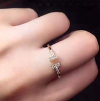 On Sale Fine Jewelry Real 18K Facny White Diamond Wedding Engagement Female Rings for Women Fine Diamonds Ring