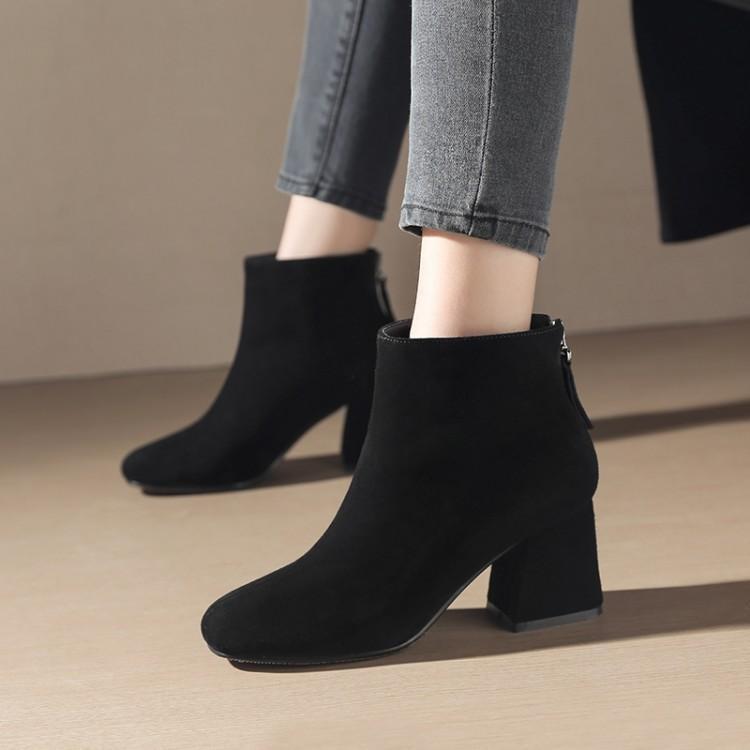 Tobillo Invierno Grueso Dedo Tacón Gamuza Mujer Moda Mujeres Zapatos De  Negro Pie Redondo gris Con Para Las Superior Negro Gris Del Botas Cremallera  rZZTUXq beb0010b05f8