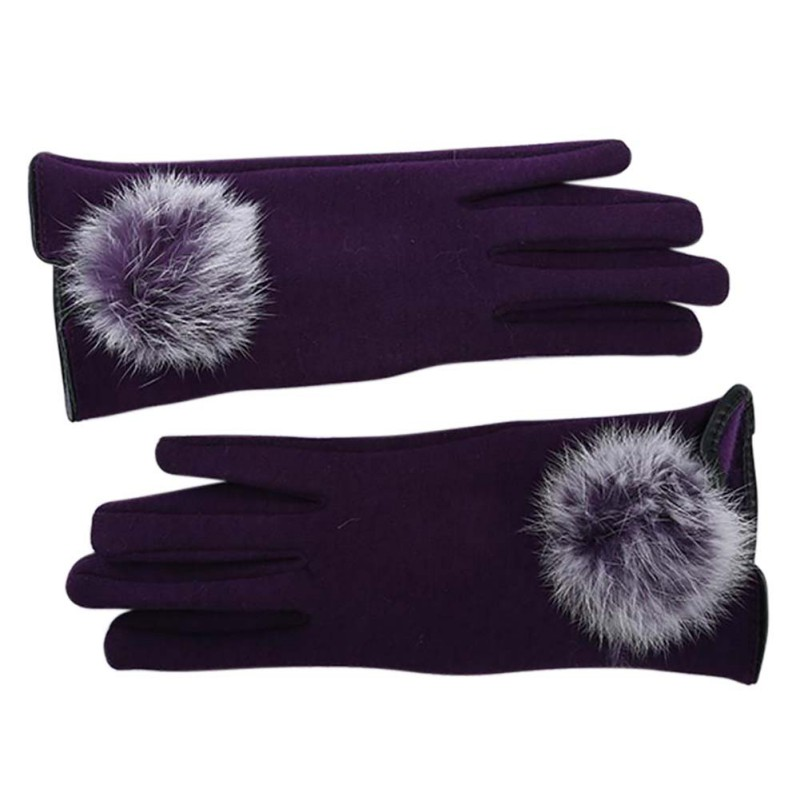 Stylish and Comfortable Touch Screen Gloves made of Cotton with Lace for All Touch Screen Device Suitable for Winter 5