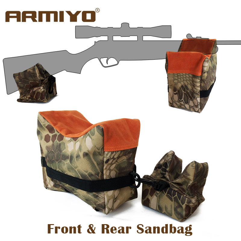 Armiyo frente e traseira arma saco de areia suporte bipod rifle saco de areia sem areia sniper caça alvo suporte tiro acessórios
