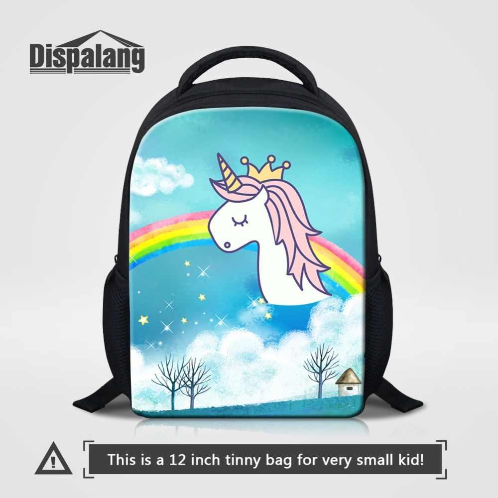 7827471a0dcf 12 дюймов Малый настроить рюкзаки для детского сада животных Единорог  Фламинго школьные ранцы для детей на