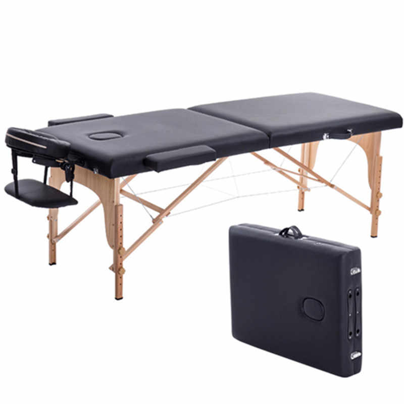 Professional Massage Foldable Bed For Beach Camping Portable Wood Beds Folding Width 60 Length 185 Araba Ici Yatak With Bag