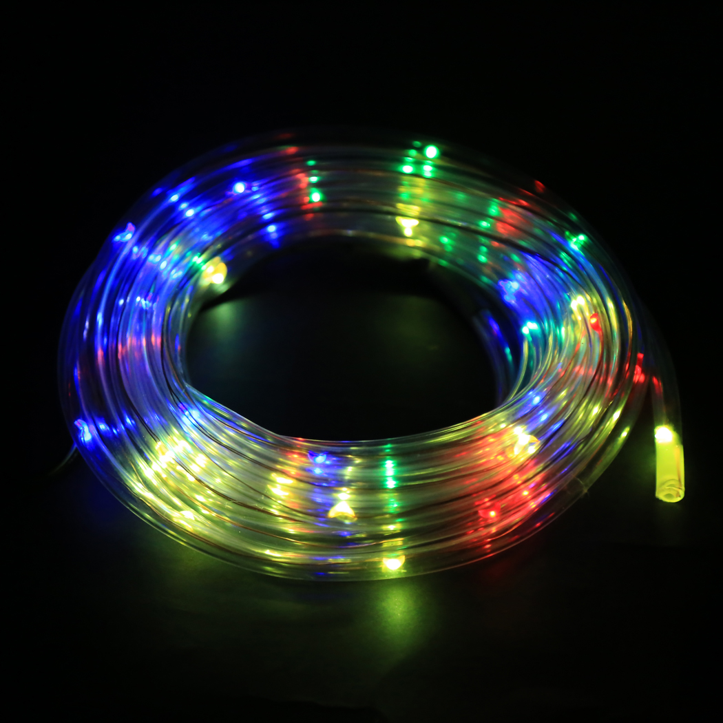 GQMML 7M 50 Solar LED Rope Light Multi-color Christmas Party <font><b>Outdoor</b></font> Decor Lights N4025