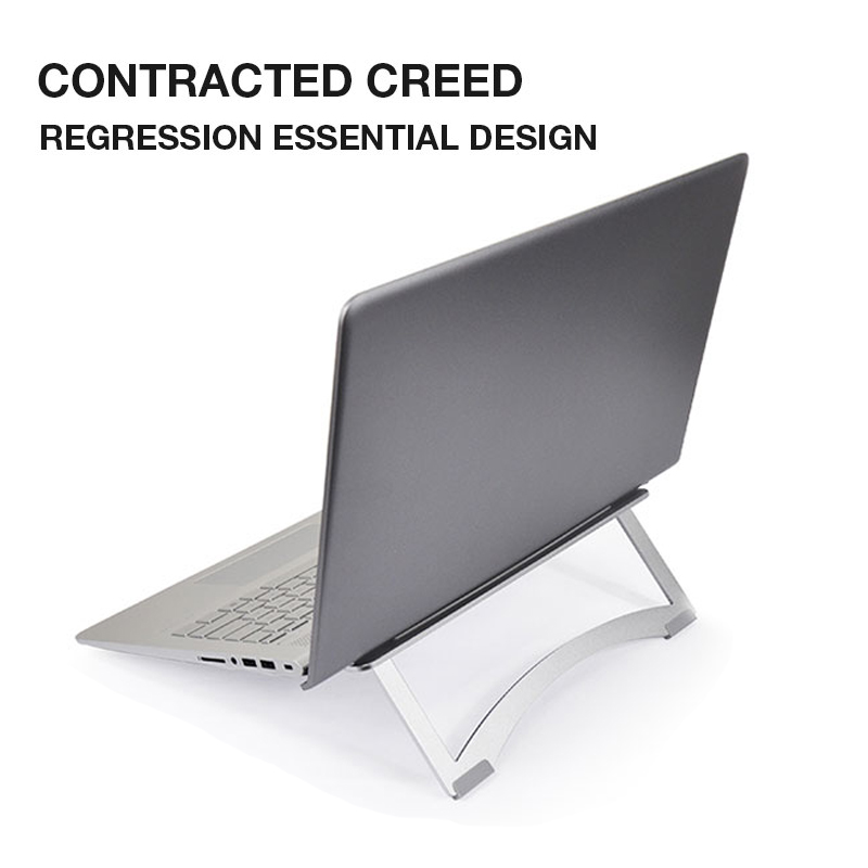 все цены на Aluminum Laptop Stand Holder Dock Desk Pad For MacBook Pro Air Tablet Notebook Portable Metal Laptop Cooling Pad Cooler Stand онлайн