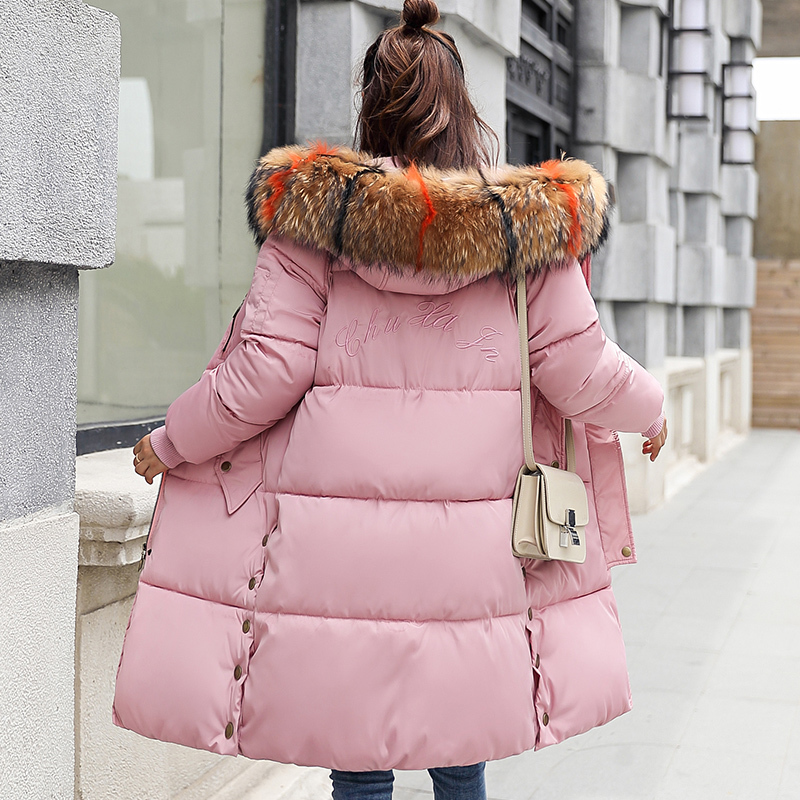 2018 Thick Warm Hooded Cotton Long   Parka   Plus Size Women Winter Coat Jacket Clothing For Mujer Feminine De Inverno Casaco