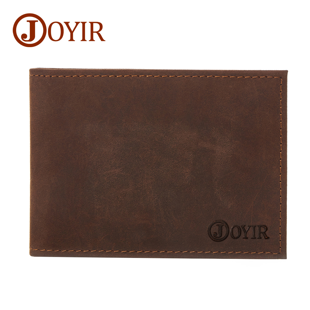 JOYIR 2018 Crazy Horse Leather Drive License Holder Men Genuine Leather Credit Card Hold ...