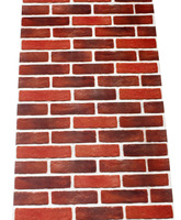 HaokHome Vintage Retro Faux Brick Wallpaper 3D Realistic Stone Rolls Brick Red Grey Living Room Bedroom