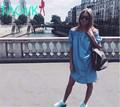 TAOVK 2016 new fashion Russian style Women Dresses Slash Dress with Belt Button blue sleeveless ruffled dress