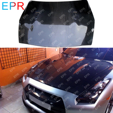 For Nissan GTR R35 OEM Style Carbon Fiber Hood Body Kit Tuning Part For R35 GTR Hood Glossy Fibre Racing Accessories Trim car styling for r35 gtr gt r carbon fiber ze style side skirt glossy fibre zele door body kit racing auto accessories trim