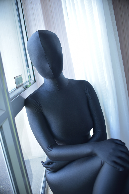 Black High Quality Spandex Zentai Bodysuits Halloween costumes Hot Sale Freeshipping Zentai Catsuit