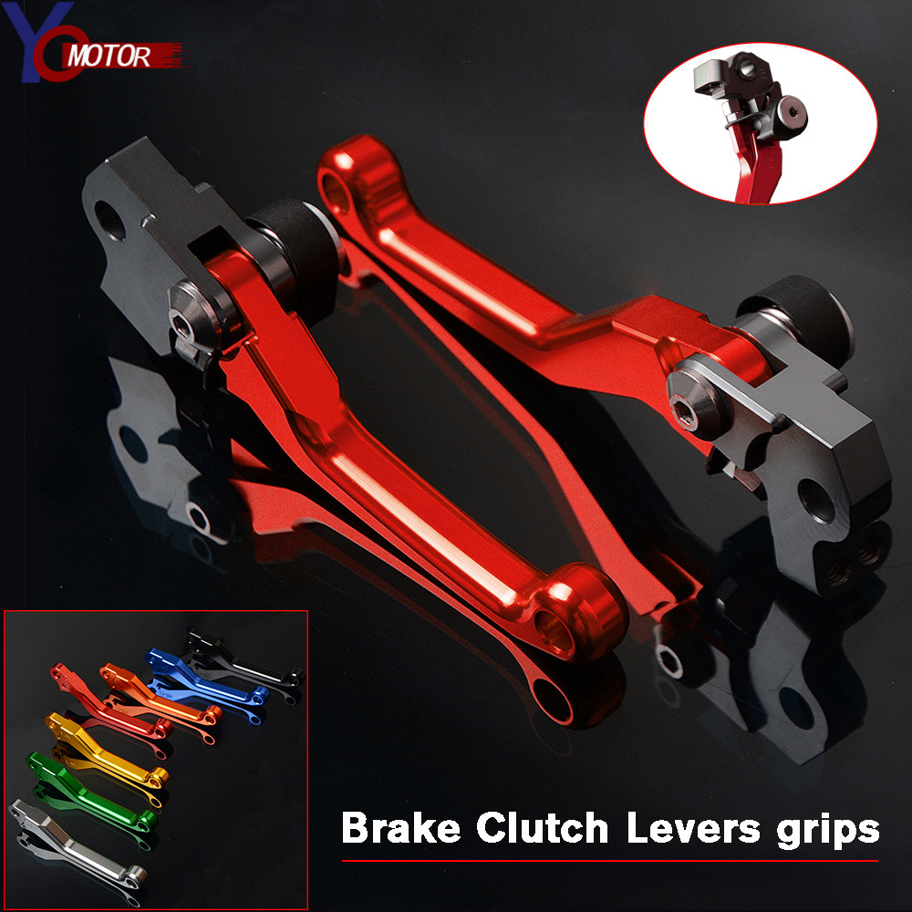 Motocross CNC Pit Dirt Bike Brake Clutch Lever Handle FOR HONDA CRF250R <font><b>CRF450R</b></font> 2007-2018 2017 <font><b>2016</b></font> 2015 2014 2013 2012 2011 image