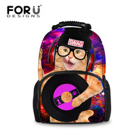 Fashion Women School Backpacks Lovely Galaxy Cat Printing Laptop Backpack For Girls Big Size Children Bookbag