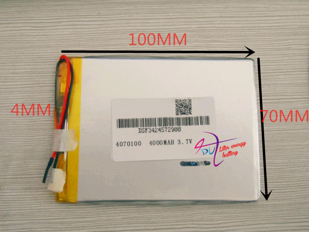 best battery brand 3.7V 4000MAH 4070100 tablet battery with protection board For MID 7inch Tablet PC image