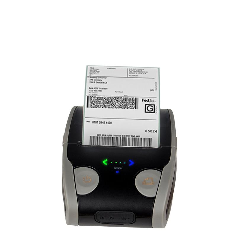 Mini imprimante thermique reçu papier matriciel Portable poche 58mm étiquette de code à barres Bluetooth imprimante thermique
