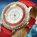 Reloj de cuarzo de Las Mujeres Señoras de Los Relojes de Moda Casual Populares de Cuero Gogoey Marca de Lujo Reloj de Oro relogios femininos reloj mujer