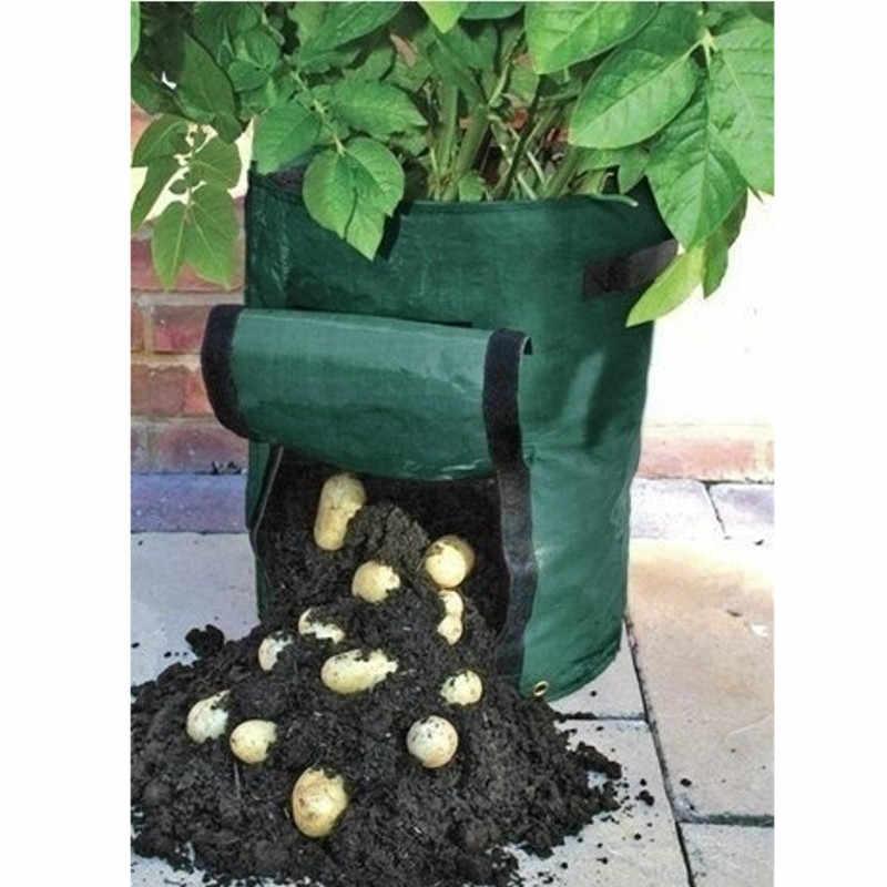 Полиэтиленовые пакеты для выращивания картофеля для садоводства горшки плантаторы для овощей, огородная мешки кармашки для выращивания растений фермы товары для домашнего сада