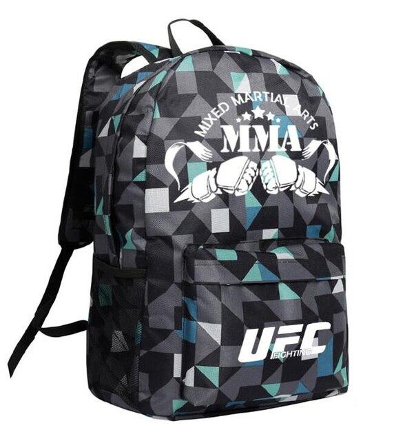 MMA バックパックボックス ing ショルダー UFC メモリギフト友人のためのデイパック 2020 ファッションバッグ