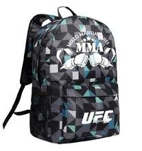 Mma mochila caixa ing ombro ufc memória presentes daypack para amigos 2020 saco de moda