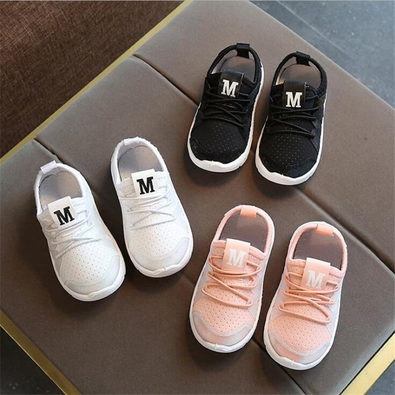 DapChild Sport Shoes Kids Running Shoes Girls Boys Spring Sneakers Soft Footwear Baby Flats Brand Children Shoes Tennis shoe