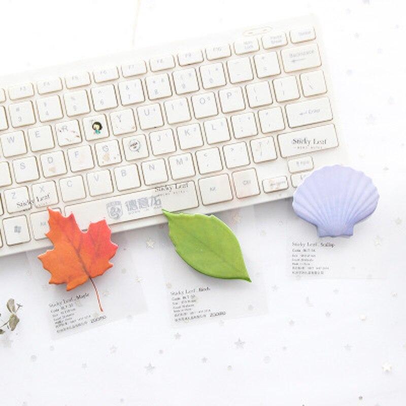 Simulation Leaf Sticky Notes Kawaii Stationery Korean Cartoon Memo Pad Kawaii Memo Sheets  Cute Planner Stickers  Notepad