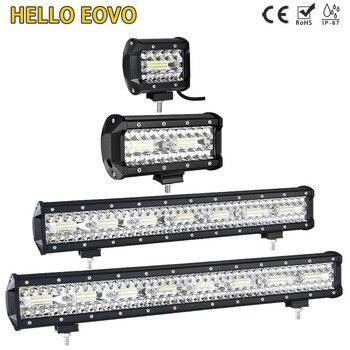 BONJOUR EOVO 4-32 pouces barre de LED LED Barre de Lumière de Travail de Conduite Tout-Terrain De Camion De Tracteur De Voiture de Bateau 4x4 SUV ATV Sans Kits De Câblage