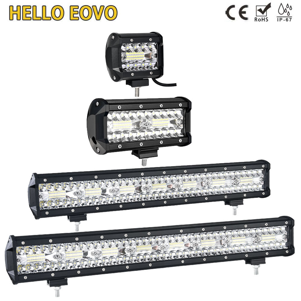 HELLO EOVO 4 - 32 Inch LED Bar LED Work Light Bar Driving Offroad Boat Car Tractor Truck 4x4 SUV ATV Without Wiring Kits
