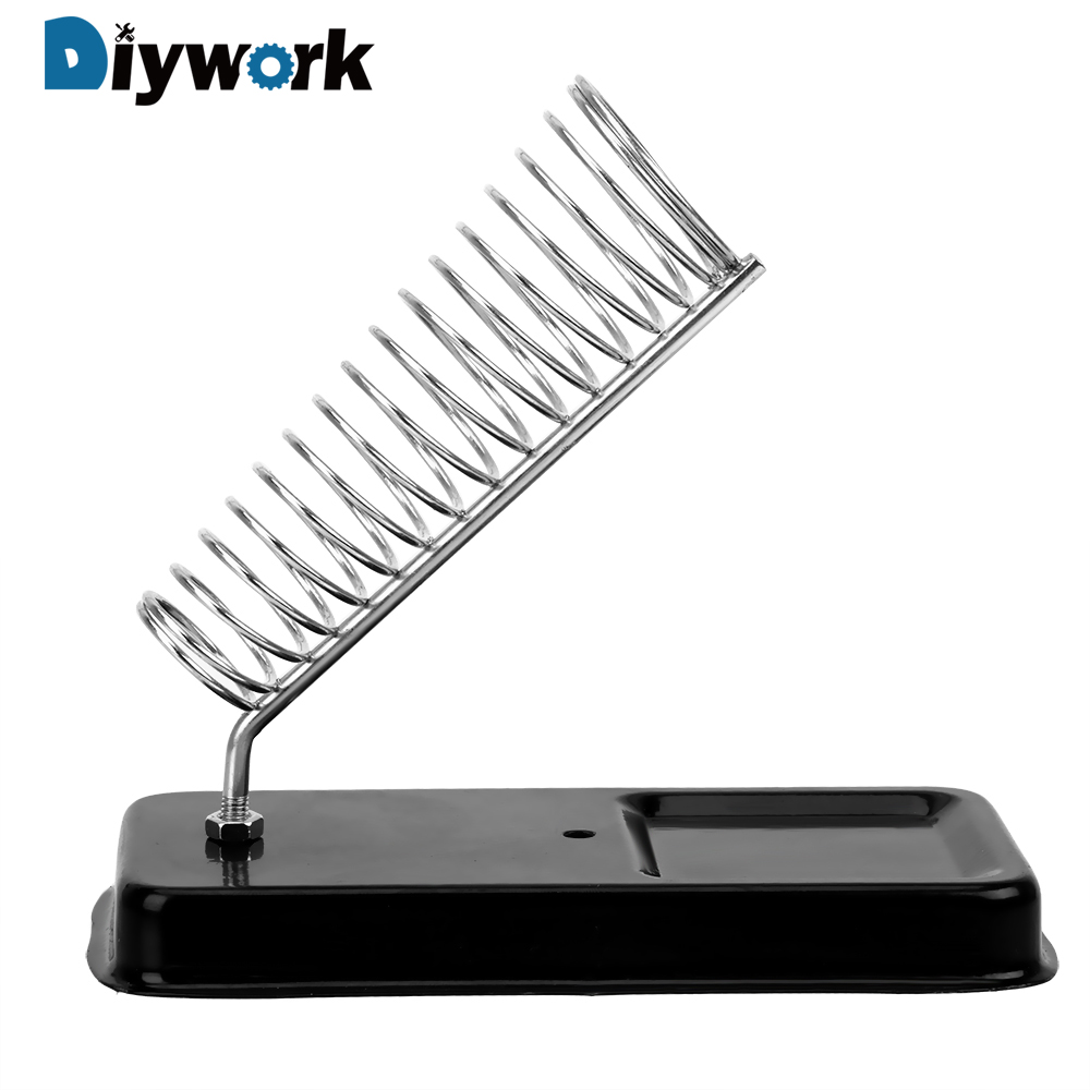 DIYWORK Generic Electric Soldering Iron Stand Holder Soldering Iron Frame High Temperature Resistance Metal Support Station