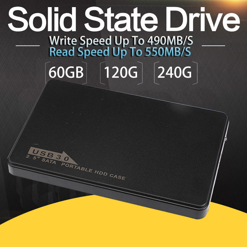 Durable External Hard Drives Solid State Disk 60G/120G/240 Super High Speed USB3.0 270MB/S SSD for Laptop Desktop pechoin 120g 60g