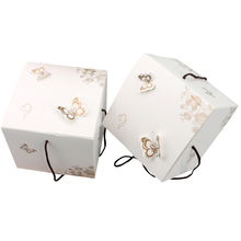 10pcs/pack Lovely Butterfly Mooncake Cake Candy Handline Gift Box Candy Box Bag Mid-Autumn Festival Packaging Dumpling boxes цены