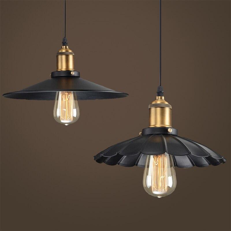 ФОТО Loft Lampadari Industrial Pendant Lights Rustic Suspension Luminaire Art Deco Lighting Louis Poulsen Lamp Shade Lampara Lustres