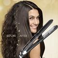 Аргановое масло паровой выпрямитель для волос бигуди Настоящее антистатическое керамическое 2 в 1 выпрямитель и щипцы для завивки двойной
