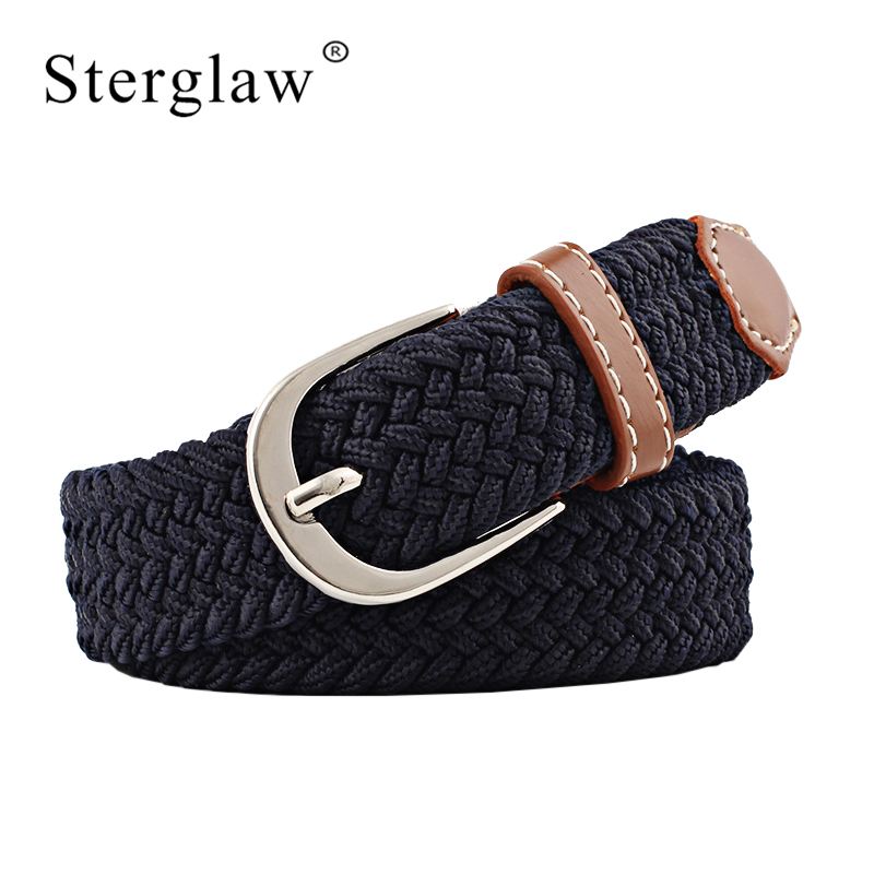 100x2.5cm New Black Elastic Waist Belt For Women Braided Belt 2020 Casual Men Belts With Student Belt Thin Canvas Belt N219