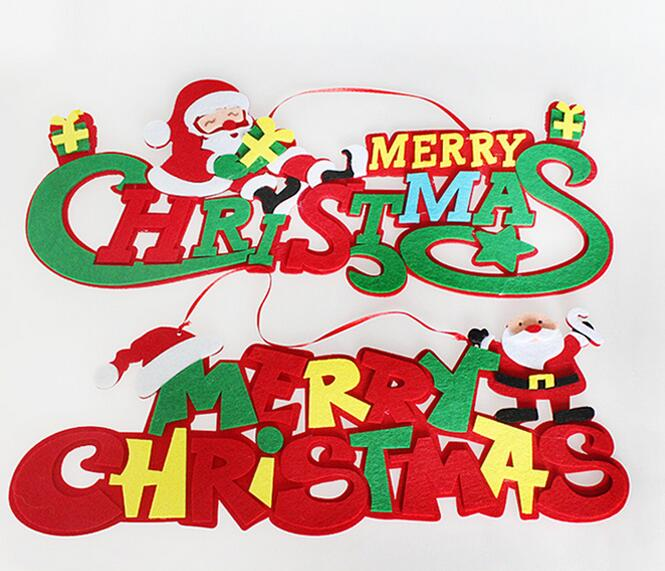 2pcsbag merry christmas letter ornaments festival christmas tree decorations hanging decoration festive party decoration in pendant drop ornaments from - Christmas Letter Decorations