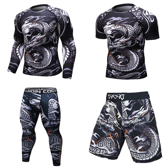 Ultimate SaleT-Shirt Men Rashguard Fitness-Tights Exercise MMA Cross-Fit Compression Work-Out Bodybuild