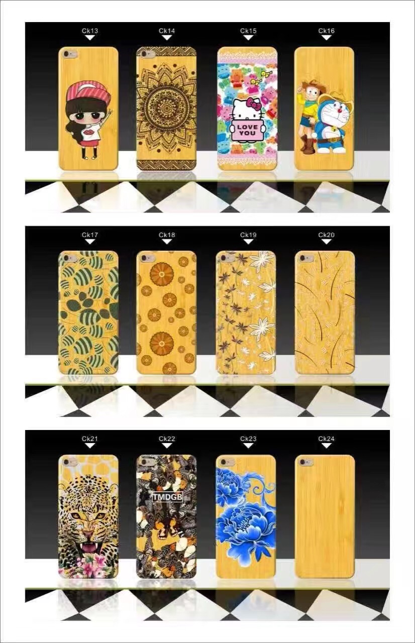 Cute Cartoon Wooden print Hello Kitty Cat Stich Animals fruits Phone Cases Cover for iphone 6 6s 7 7Plus Silicone Fundas Coque
