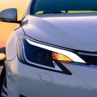 Car Styling for Toyota Reiz Headlights 2014 2016 New Mark X LED Headlight Bi Xenon Head Lamp LED DRL Car Lights