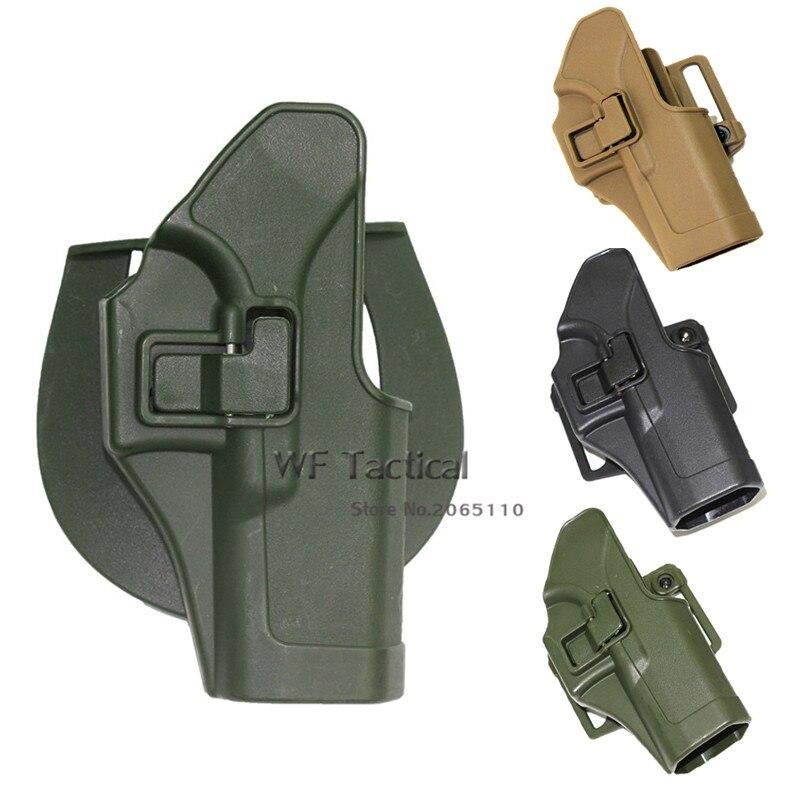 CQC Right Hand Hunting Tactical Holster Paddle Pistol Waist Belt Gun Holster For Glock 17 19 22 23 31 32